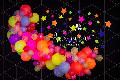 Fundo Fotográfico em Tecido Helanca Light -Neon - Ana Luiza