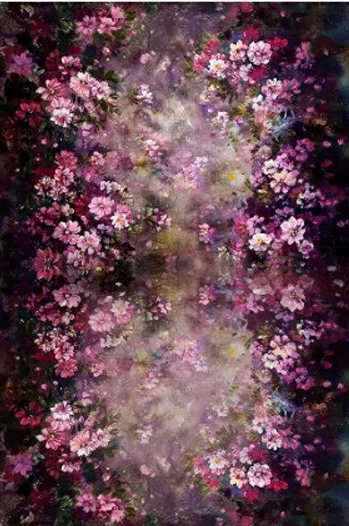 Fundo Fotográfico em Tecido Helanca Light - Floral Aquarela
