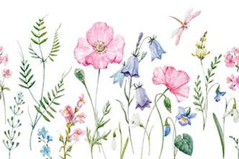 Fundo Fotografico Tecido Helanca Light - Floral Aquarela