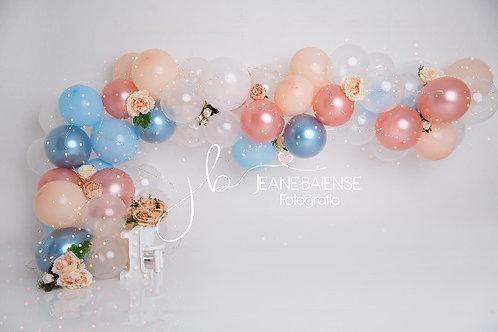 cópia de Fundo Fotográfico em Tecido Helanca Light -Smash Balões - Jane B