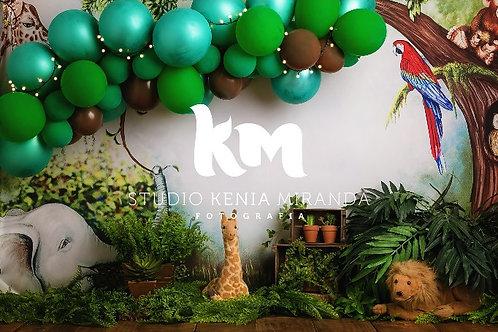 Fundo Fotográfico em Tecido Helanca Light - Safari  - Kenia M