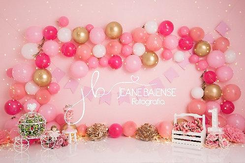 Fundo Fotográfico em Tecido Helanca Light -Smash Balões - Jane B