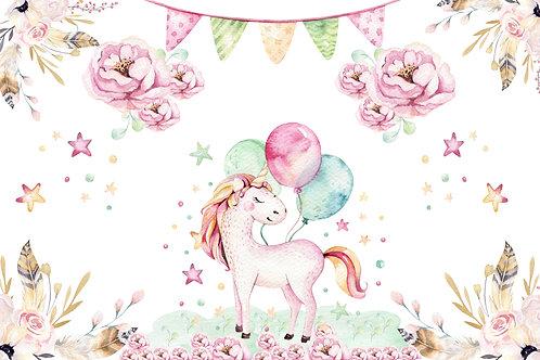 Fundo Fotográfico em Tecido Helanca Light -unicornio