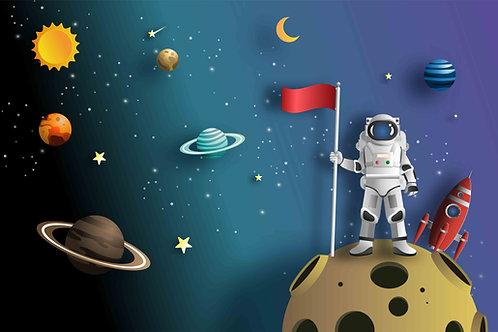 Fundo Fotográfico em Tecido Helanca Light - Astronauta