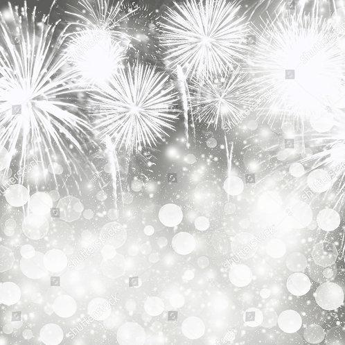 Fundo Fotográfico em Tecido Helanca Light - Ano Novo