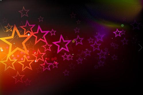 Fundo Fotográfico em Tecido Helanca Light - Estrelas