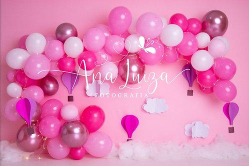 Fundo Fotográfico em Tecido Helanca Light - Balão - Ana Luiza