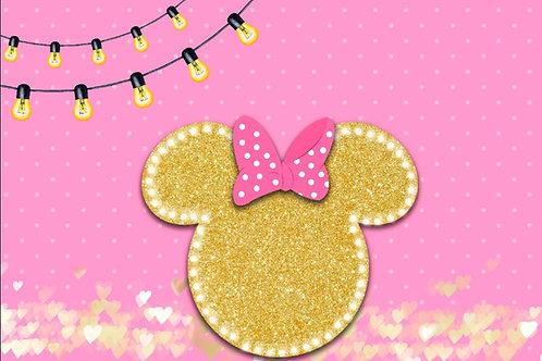 Fundo Fotográfico em Tecido Helanca Light - Mickey e Minie