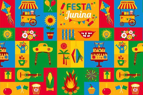 Fundo Fotográfico em Tecido Helanca Light - Festa Junina -