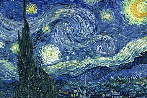 Fundo Fotográfico em Tecido Helanca Light -la noche estrellada de van gogh