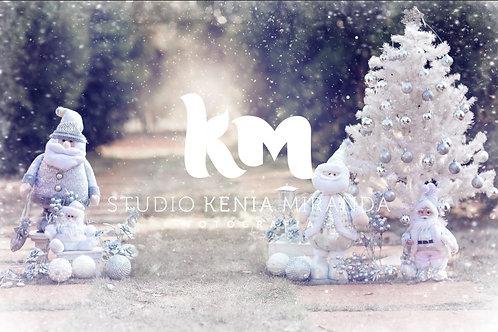 Fundo Fotográfico em Tecido Helanca Light - Natal - Kenia Miranda