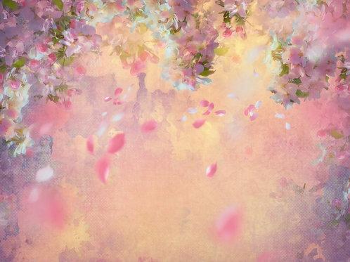 Fundo Fotográfico Tecido Helanca Light - Floral Canvas