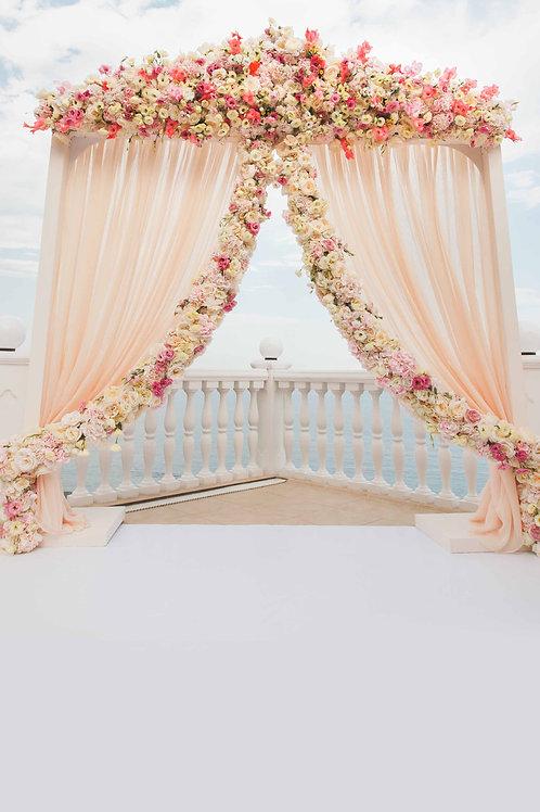Fundo Fotografico Tecido Helanca Light -floral