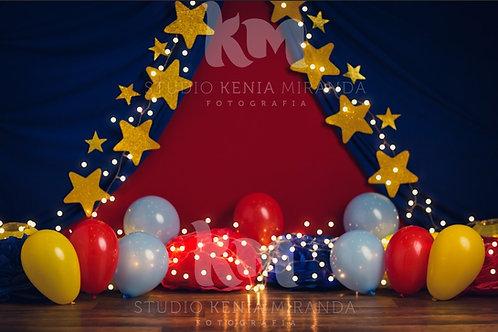 Fundo Fotográfico em Tecido Helanca Light - Circo - Kenia Miranda