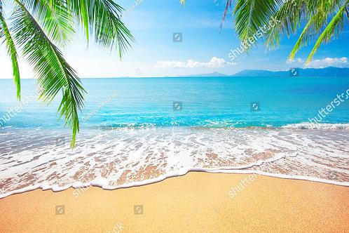 Fundo Fotográfico em Tecido Helanca Light - Praia Verão