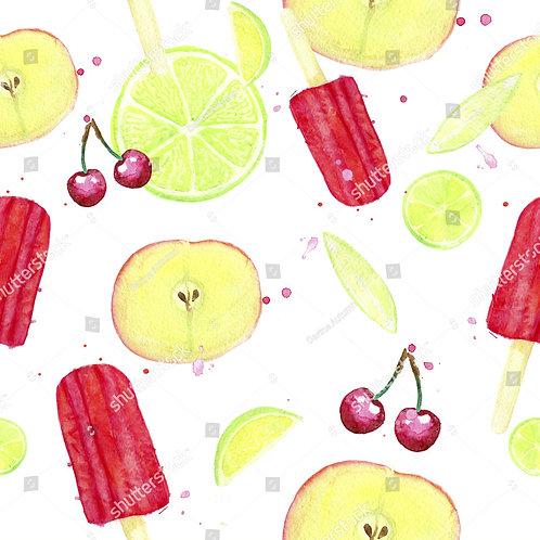 Fundo Fotográfico em Tecido Helanca Light - Sorvete Frutas