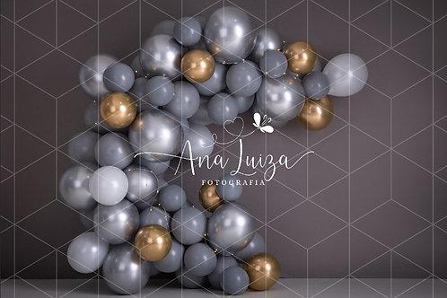 Fundo Fotográfico em Tecido Helanca Light -Balão - Ana Luiza