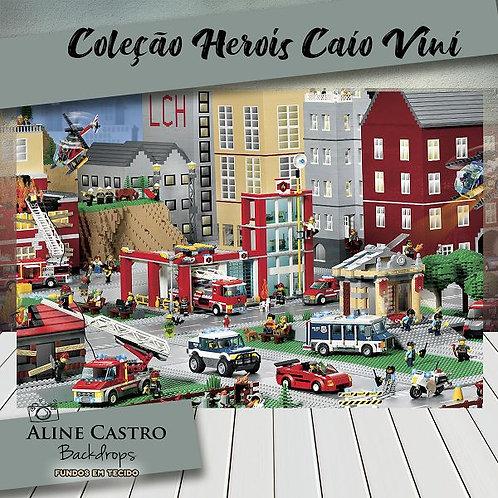 Fundo Fotográfico em Tecido Helanca Light - Cidade Lego - Caio Vini