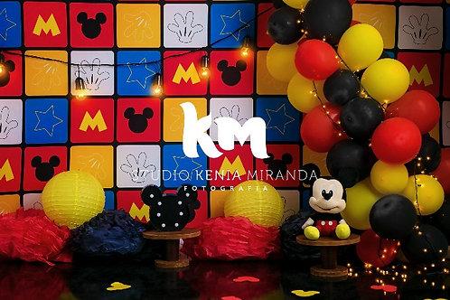 Fundo Fotográfico em Tecido Helanca Light -Mickey  - Kenia M