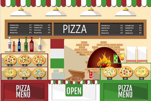 Fundo Fotográfico em Tecido Helanca Light - Pizza -