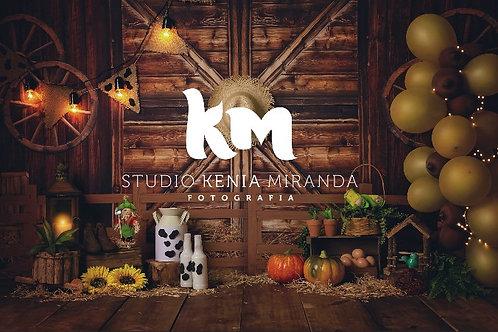 Fundo Fotográfico em Tecido Helanca Light - Fazendinha  - Kenia M