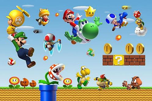 Fundo Fotografico Tecido Helanca Light - Super Mario