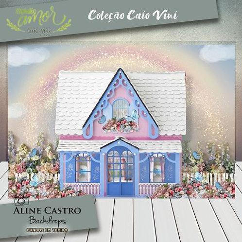 Fundo Fotográfico em Tecido Helanca Light - Casa de bonecas - Caio Vini