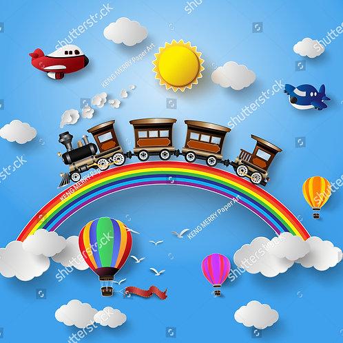 Fundo Fotografico Tecido Helanca Light - Balões