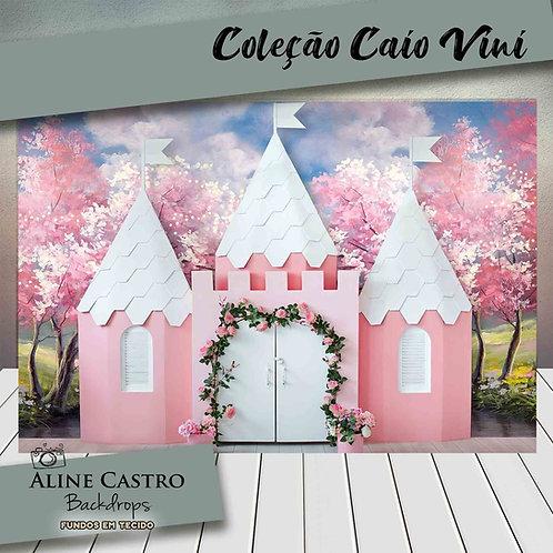 Fundo Fotográfico em Tecido Helanca Light - Casa Floral - Caio Vini