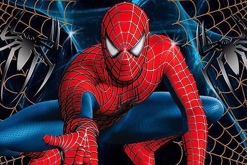 Fundo Fotografico Tecido Helanca Light- Homem Aranha Super Heroi