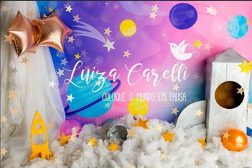 Fundo Fotográfico em Tecido Helanca Light - astronauta - Luiza Carelli