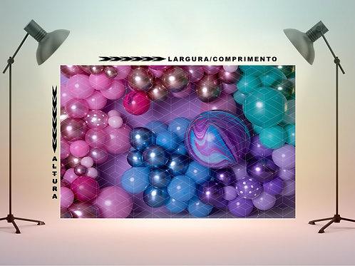 Fundo Fotografico em Tecido - Balões Coloridos