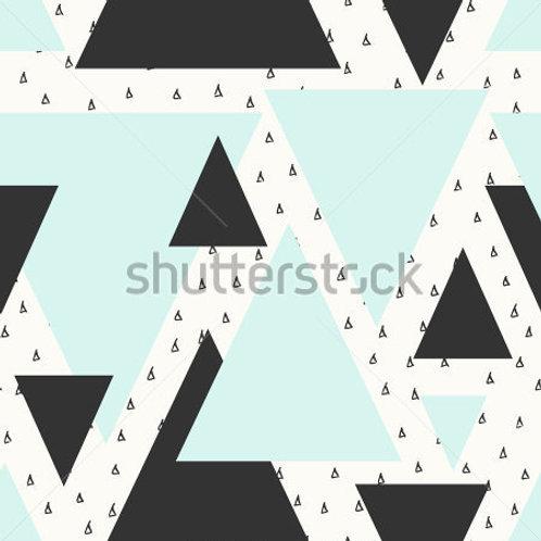 Fundo Fotográfico em Tecido Helanca Light - Triângulos
