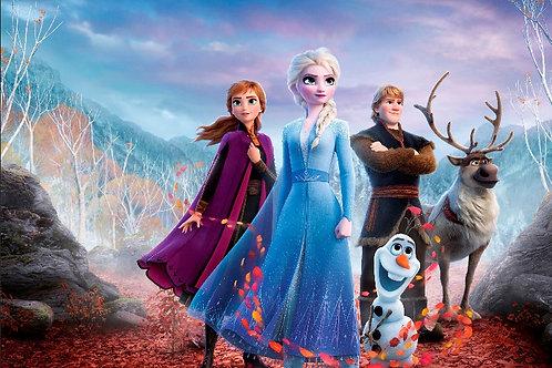 Fundo Fotográfico em Tecido Helanca Light - Frozen 2