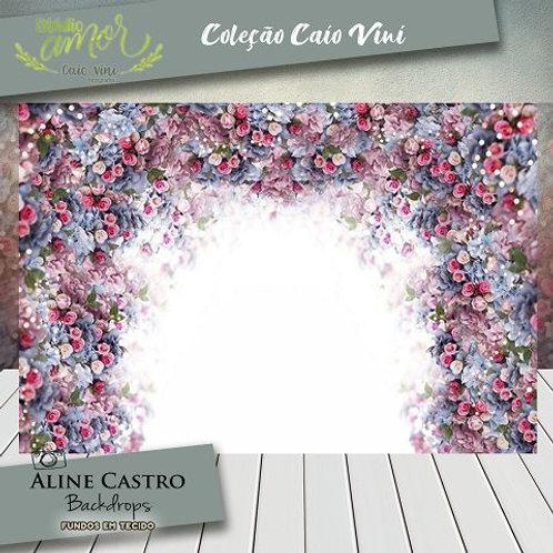Fundo Fotográfico em Tecido Helanca Light - Floral - Caio Vini