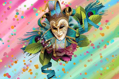 Fundo Fotográfico em Tecido Helanca Light - Carnaval