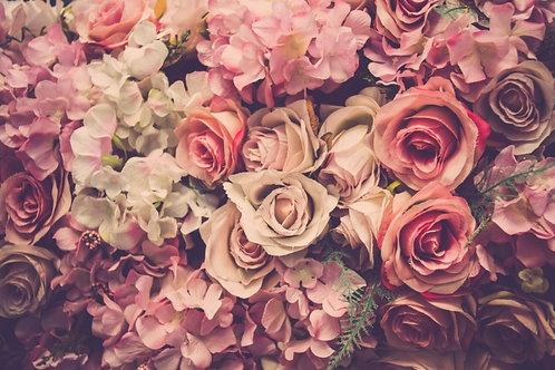 Fundo Fotográfico em Tecido Helanca Light - Floral Rose