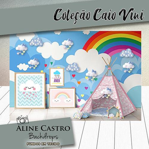 Fundo Fotográfico em Tecido Helanca Light - Cabana arco-íris - Caio Vini