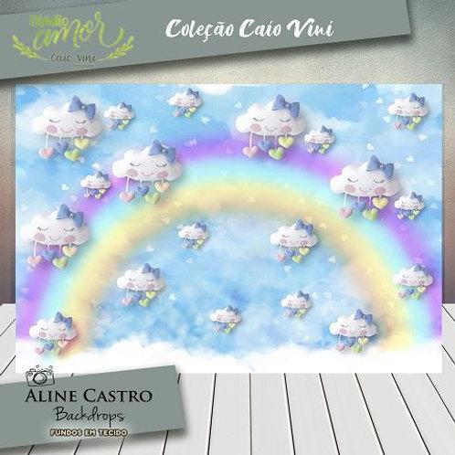 Fundo Fotográfico em Tecido Helanca Light - Arco-íris - Caio Vini