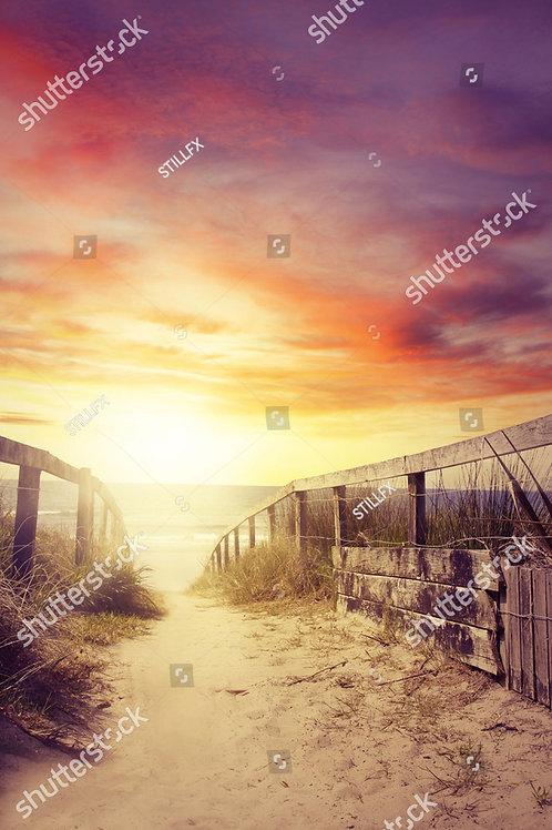 Fundo Fotografico Tecido Helanca Light - Praia