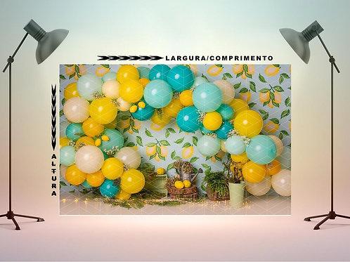 Fundo Fotografico em Tecido - Smash Limão