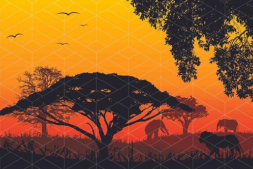 Fundo Fotográfico em Tecido Helanca Light - Rei Leão Safari