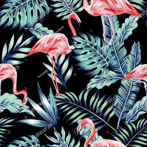 Fundo Fotografico Tecido Helanca Light - Flamingos