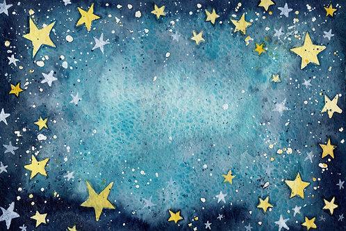 Fundo Fotografico Tecido Helanca Light - Estrelas