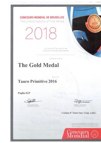 Cantina Tauro: riconoscimento internazionale