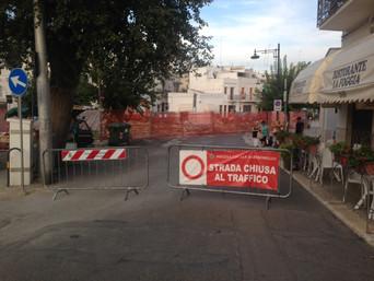 Largo Martellotta: lavori e divieti