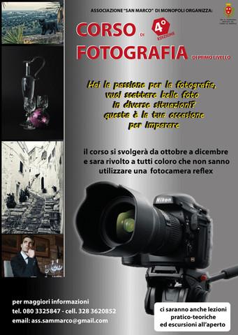 Corso di fotografia di primo livello - quarta edizione