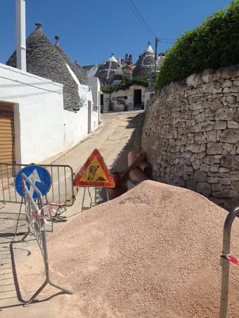 I lavori nel Rione Monti