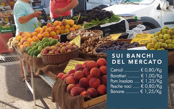 Sui banchi del mercato settimanale