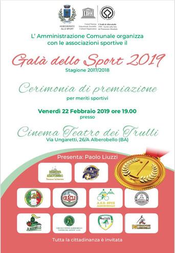 Galà dello Sport 2019, Alberobello celebra le sue eccellenze